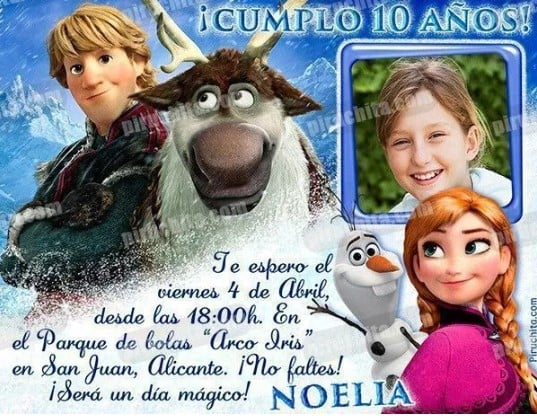 Invitación Cumpleaños Frozen Elsa Y Anna 2019 Gratis