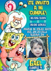 Piruchita Invitation Sponge Bob 6 Store