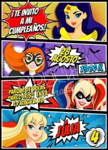 Piruchita Invitacion Superhero Girls 4 Tienda