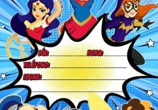 Photo of Invitación cumpleaños Super heroínas (DC Super Hero Girls) GRATIS