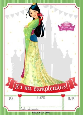 Photo of Invitación de Cumpleaños de Mulán Princesa Disney – GRATIS