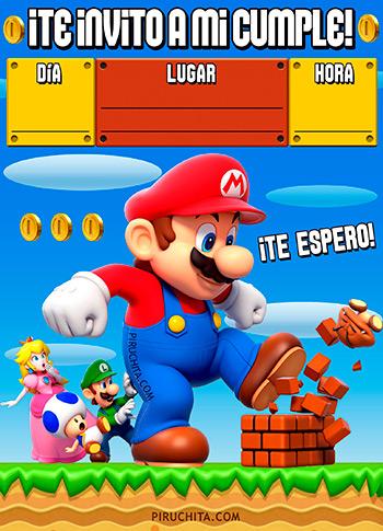 Invitación de Mario