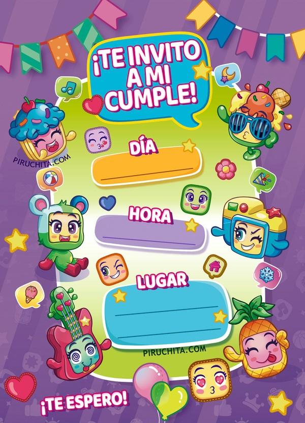 invitacion cumpleanos MojiPops gratis piruchita 2