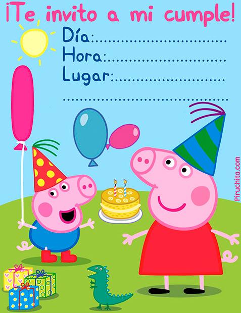 invitacion peppa pig gratis